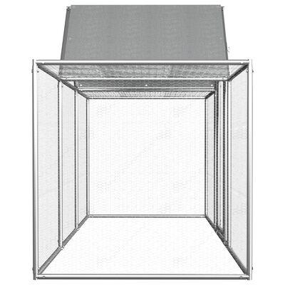 vidaXL Hönsbur 3x1x1,5 m galvaniserat stål,