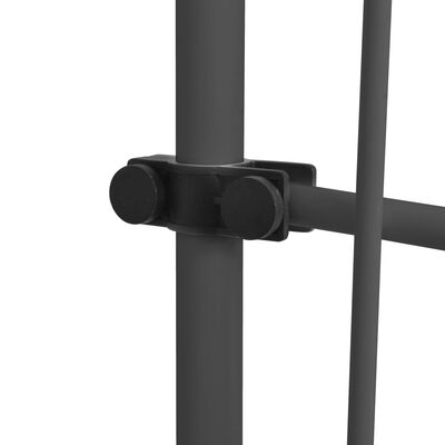 vidaXL Markis manuellt infällbar med LED 150 cm antracit
