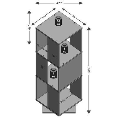 FMD Roterbart dokumentskåp öppen 34x34x108 cm ek