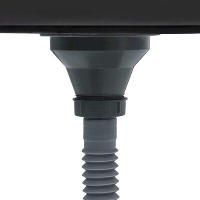vidaXL Handgjord diskho med sil rostfritt stål