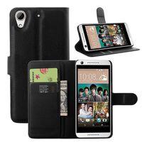 HTC Desire 650 Plånboksfodral SVART