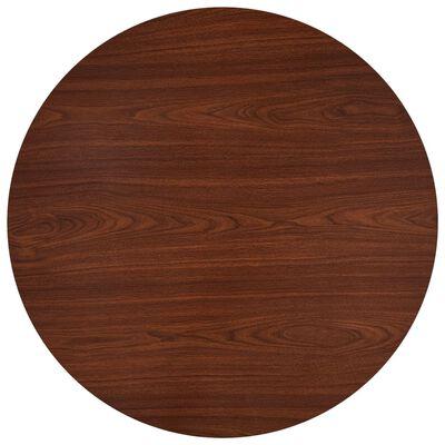 vidaXL Matgrupp 5 delar tyg brun