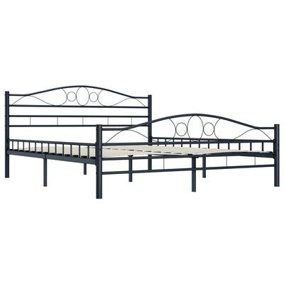 vidaXL Sängram svart stål 140x200 cm