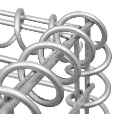vidaXL Planteringsgabion H-formad stål 260x40x120 cm