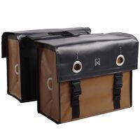 Willex Cykelväskor presenningstyg 52 L matt svart och matt brun