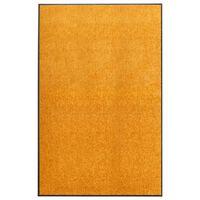 vidaXL Dörrmatta tvättbar orange 120x180 cm