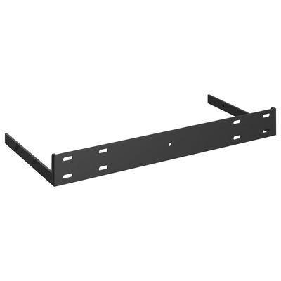 vidaXL Svävande vägghyllor 2 st vit högglans 50x23x3,8 cm MDF