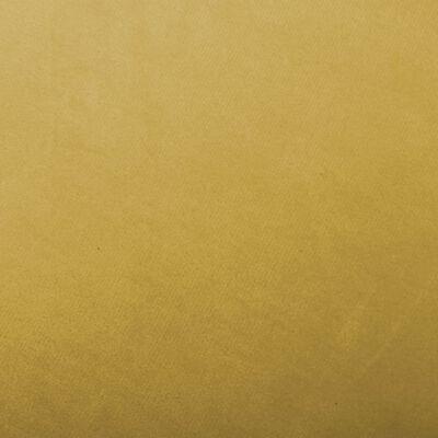 vidaXL Gungstol senapsgul sammet, Mustardyellow
