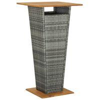 vidaXL Barbord grå 60x60x110 cm konstrotting och massivt akaciaträ
