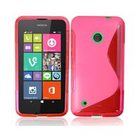 S Line silikon skal Nokia Lumia 530 (RM-1017) Rosa