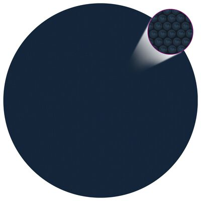 vidaXL Värmeduk för pool PE 488 cm svart och blå
