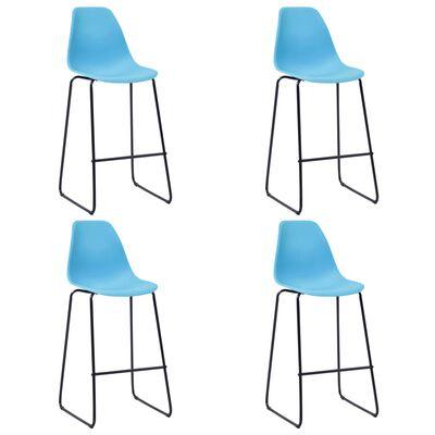 vidaXL Bargrupp 5 delar plast blå