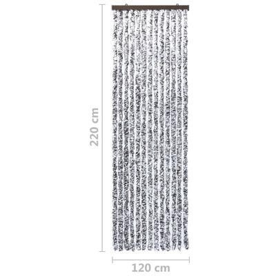 vidaXL Insektsdraperi brun och beige 120x220 cm chenille