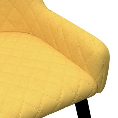 vidaXL Matstolar 4 st gul tyg