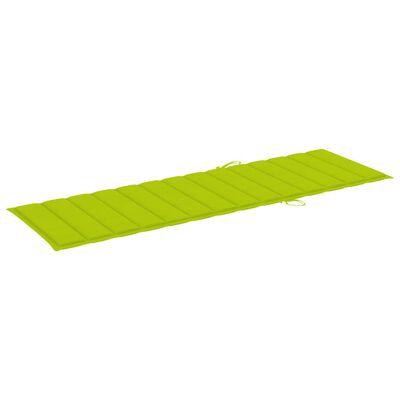 vidaXL Solsängsdyna ljusgrön 200x60x4 cm tyg