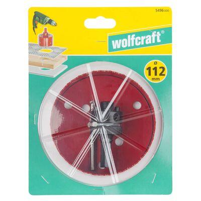 wolfcraft Hålsåg 112 mm bimetall röd 5496000