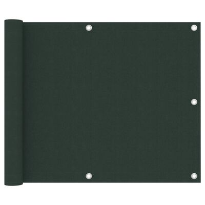 vidaXL Balkongskärm mörkgrön 75x300 cm oxfordtyg