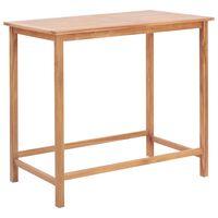 vidaXL Ståbord för utomhusbruk 120x65x110 cm massivt teakträ