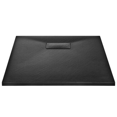 vidaXL Duschkar SMC svart 90x70 cm