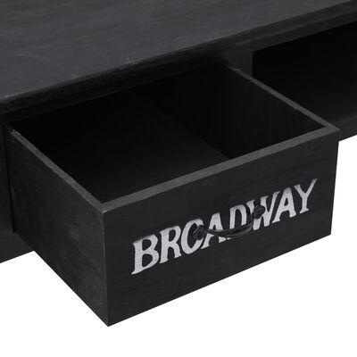 vidaXL Avlastningsbord svart 110x45x76 cm trä, Svart
