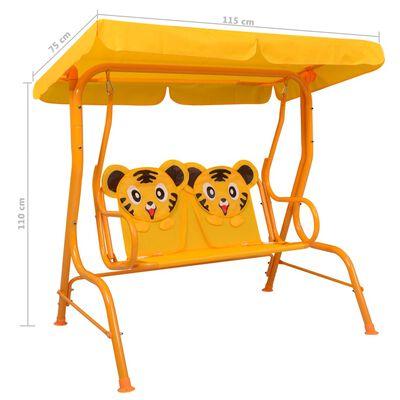 vidaXL Hammock för barn gul 115x75x110 cm tyg
