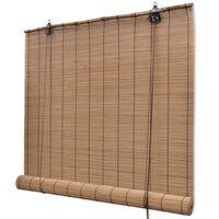 vidaXL Rullgardin bambu 120 x 220 cm brun