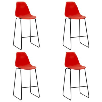 vidaXL Bargrupp 5 delar plast röd