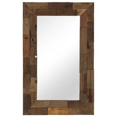 vidaXL Spegel massivt återvunnet trä 50x80 cm