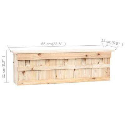 vidaXL Sparvholk med 5 kammare 68x15x21 cm granträ
