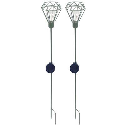 Luxform Solcellslampa med markspett Diamond 2-pack