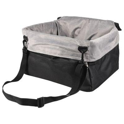 FLAMINGO Bilstol för hund Ula grå 41x36x25 cm