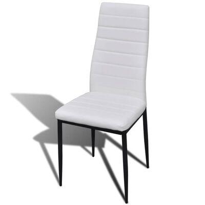 vidaXL Matgrupp 4 stolar med 1 glasbord