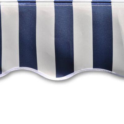 vidaXL Markisduk 4 x 3 m blå & vit (utan ram)
