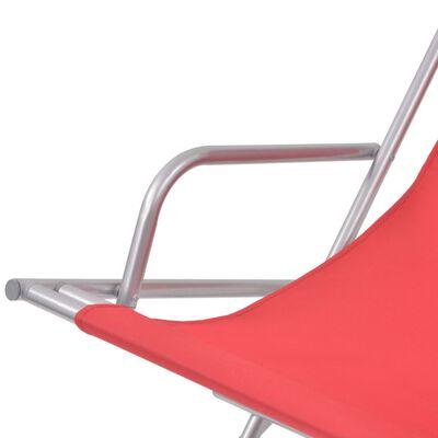 vidaXL Solstolar 2 st stål röd