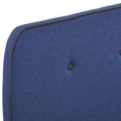 vidaXL Sängram blå tyg 120x200 cm