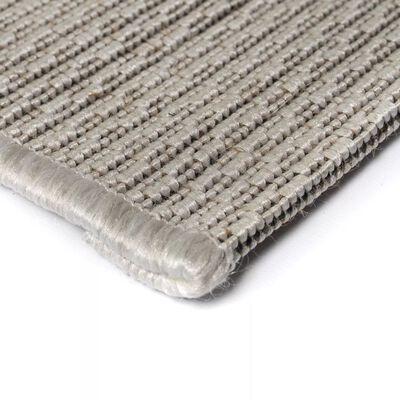 vidaXL Matta sisallook inomhus/utomhus grå 80x150 cm