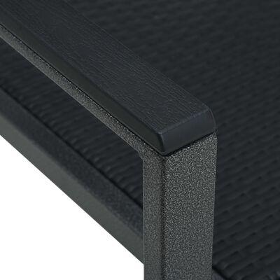 vidaXL Trädgårdsstolar 4 st svart plast rottingutseende
