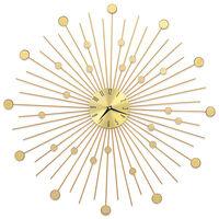 vidaXL Väggklocka metall 70 cm guld