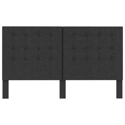 vidaXL Huvudgavel mörkgrå tyg tuftad 160x200 cm