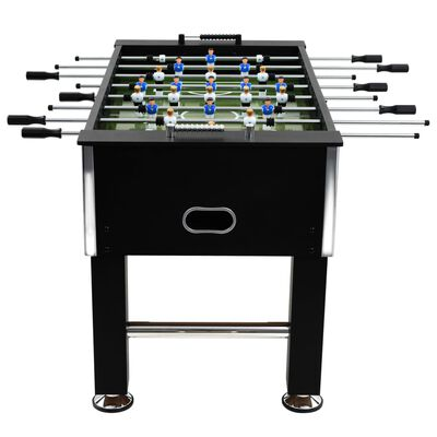 vidaXL Fotbollsbord stål 60 kg 140x74,5x87,5 cm svart