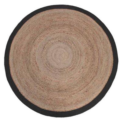 LABEL51 Matta jute rund 150 cm svart
