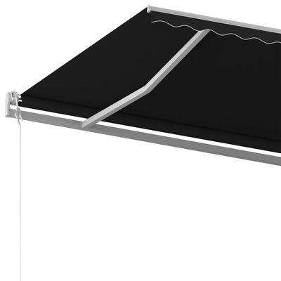 vidaXL Markis med stolpar manuellt infällbar 6x3 m antracit
