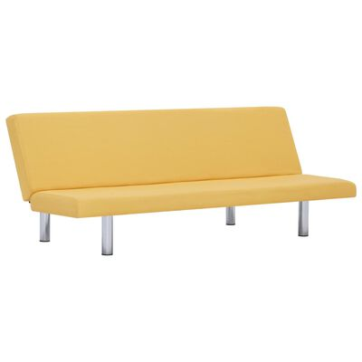 vidaXL Bäddsoffa gul polyester