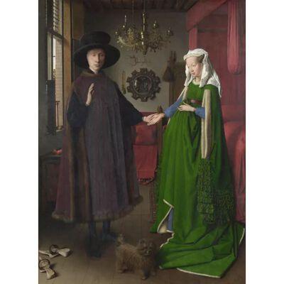 Portrait of Giovanni Arnolfini and His Wife,Jan Van Eyck,50x40cm