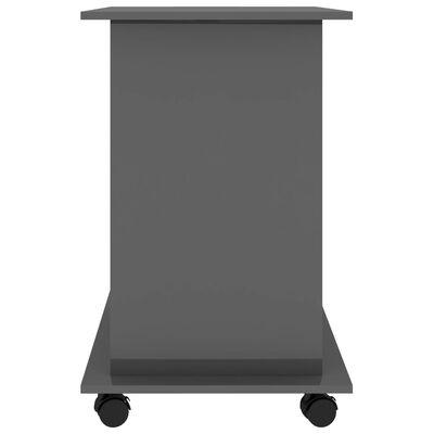 vidaXL Datorbord grå högglans 80x50x75 cm spånskiva