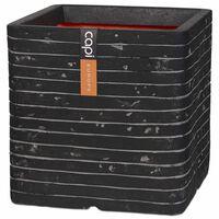 Capi Fyrkantig odlingslåda Nature Row 40x40 cm antracit KRWZ903