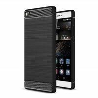 Borstat silikon TPU skal Huawei P8 Lite 2015 (ALE-L21) Svart