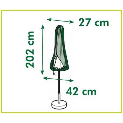vidaXL Överdrag till raka parasoll 202x42x27 cm