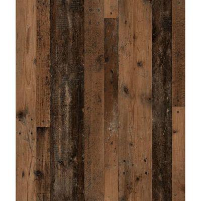 FMD Väggmonterad hylla med 8 fack gammeldags mörk