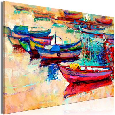 Tavla - Boats (1 Part) Wide - 120x80 Cm